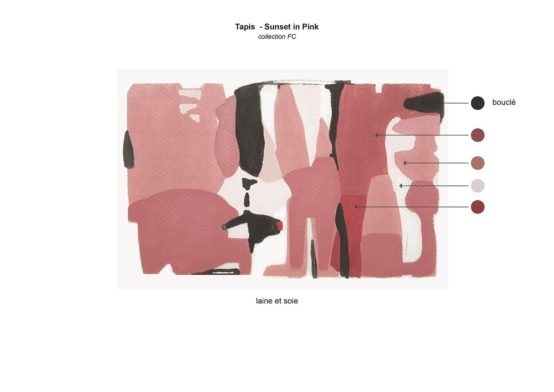 tapis sunset in pink 9